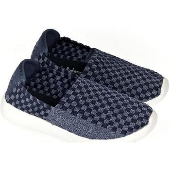 Topánky Deti Slip-on Pur Detské tmavo-modré elastické tenisky JOAN tmavomodrá