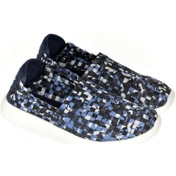 Topánky Deti Slip-on Pur Detské modré elastické tenisky JOHAN modrá