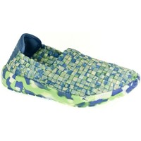 Topánky Deti Slip-on Pur Detské modro-zelené elastické tenisky JOHAN svetlozelená