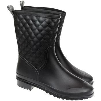 Topánky Ženy Polokozačky John-C Dámske čierne gumáky SANMM HISPANIOS čierna