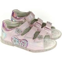 Topánky Dievčatá Sandále John-C Detské ružové sandále HEART FLOWS ružová