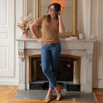 Oblečenie Ženy Blúzky Céleste ERABLE Ťavia hnedá