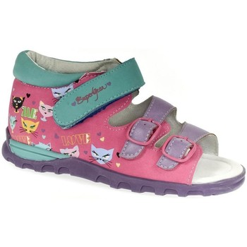 Topánky Dievčatá Sandále Super Gear Detské ružové sandále LOVE ME ružová