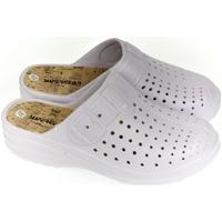 Topánky Ženy Nazuvky Super Gear Dámske biele crocsy S.GEAR JEANS biela