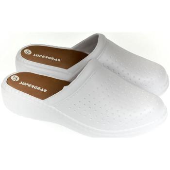 Topánky Ženy Nazuvky Super Gear Dámske biele crocsy S.GEAR ANDY biela