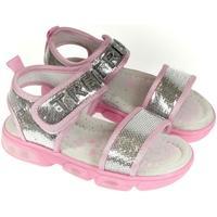 Topánky Dievčatá Sandále Csck.s Detské strieborné sandále  MISS BIANKA strieborná
