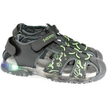 Topánky Chlapci Športové sandále Csck.s Detské blikajúce sivé sandále  JONES sivá