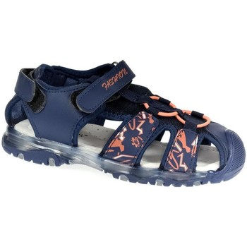 Topánky Chlapci Športové sandále Csck.s Detské blikajúce modré sandále  JONES tmavomodrá
