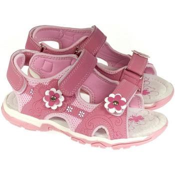 Topánky Dievčatá Sandále Csck.s Detské ružové sandále  ALLIA ružová