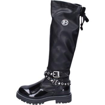 Topánky Dievčatá Cizmy Nad Kolenà Laura Biagiotti BH517 Čierna