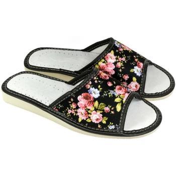 Topánky Ženy Papuče John-C Dámske kvietkované papuče TIMEJKA čierna