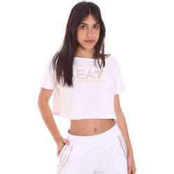 Oblečenie Ženy Tričká s krátkym rukávom Ea7 Emporio Armani 3KTT03 TJ28Z Biely