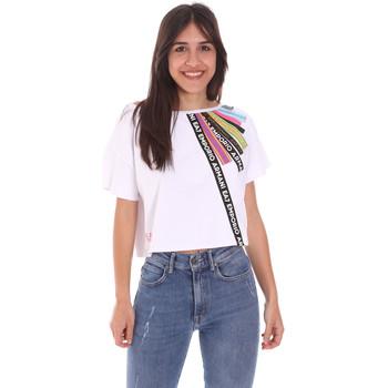 Oblečenie Ženy Tričká s krátkym rukávom Ea7 Emporio Armani 3KTT40 TJ39Z Biely