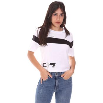 Oblečenie Ženy Tričká s krátkym rukávom Ea7 Emporio Armani 3KTT05 TJ9ZZ Biely
