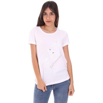 Oblečenie Ženy Tričká s krátkym rukávom Ea7 Emporio Armani 3KTT28 TJ12Z Biely