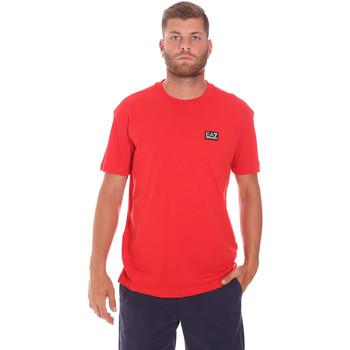 Oblečenie Muži Tričká s krátkym rukávom Ea7 Emporio Armani 3KPT63 PJ6EZ Červená