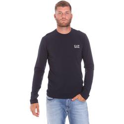 Oblečenie Muži Tričká s dlhým rukávom Ea7 Emporio Armani 8NPT55 PJM5Z Modrá