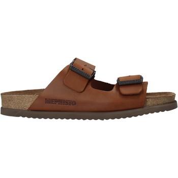Topánky Muži Šľapky Mephisto P5113700 Hnedá