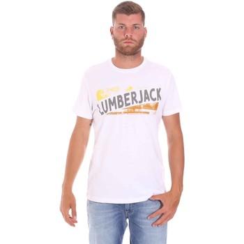 Oblečenie Muži Tričká s krátkym rukávom Lumberjack CM60343 026EU Biely