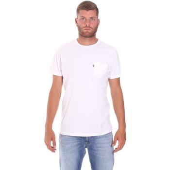 Oblečenie Muži Tričká s krátkym rukávom Lumberjack CM60343 022EU Biely