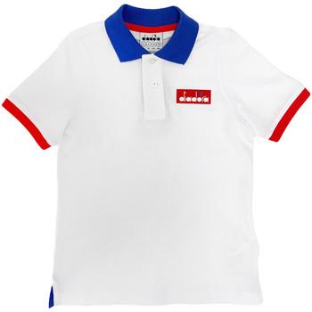Oblečenie Deti Polokošele s krátkym rukávom Diadora 102175907 Biely