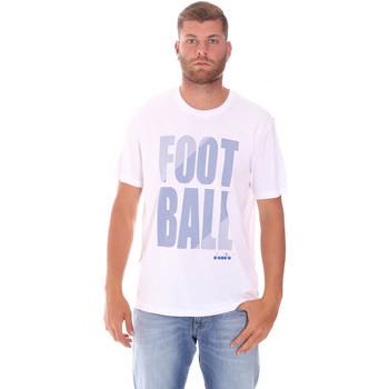 Oblečenie Muži Tričká s krátkym rukávom Diadora 102175854 Biely