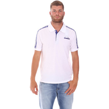 Oblečenie Muži Polokošele s krátkym rukávom Diadora 102175672 Biely