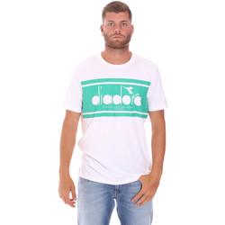 Oblečenie Muži Tričká s krátkym rukávom Diadora 502176632 Biely