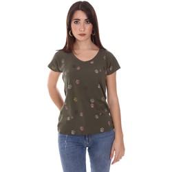Oblečenie Ženy Tričká s krátkym rukávom Lumberjack CW60343 013EU Zelená