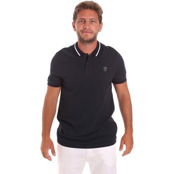 Oblečenie Muži Polokošele s krátkym rukávom Roberto Cavalli FST693 Modrá