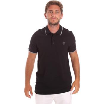 Oblečenie Muži Polokošele s krátkym rukávom Roberto Cavalli FST697 čierna