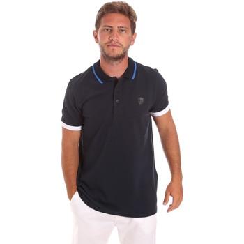Oblečenie Muži Polokošele s krátkym rukávom Roberto Cavalli FST692 Modrá