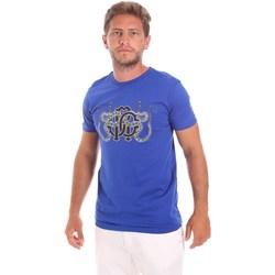 Oblečenie Muži Tričká s krátkym rukávom Roberto Cavalli HST66B Modrá