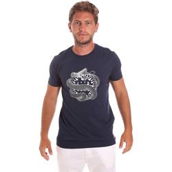 Oblečenie Muži Tričká s krátkym rukávom Roberto Cavalli HST64B Modrá