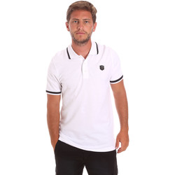 Oblečenie Muži Polokošele s krátkym rukávom Roberto Cavalli FST697 Biely