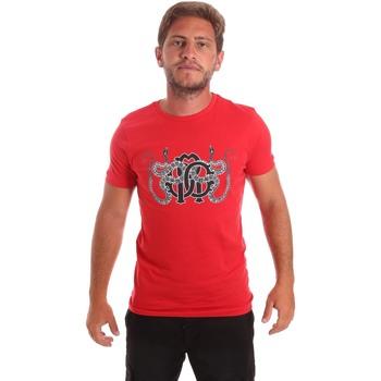 Oblečenie Muži Tričká s krátkym rukávom Roberto Cavalli HST66B Červená