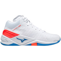 Topánky Indoor obuv Mizuno Chaussures  Wave Stealth Neo Mid blanc/rouge/bleu
