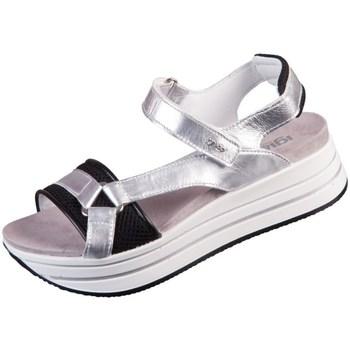 Topánky Ženy Sandále IgI&CO Skay Čierna, Strieborná