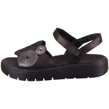 Topánky Ženy Sandále Think Sing Čierna, Hnedá