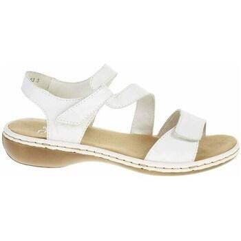 Topánky Ženy Sandále Rieker 659C780 Biela