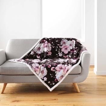 Domov Deky Douceur d intérieur VELVET FLOWER Hnedá