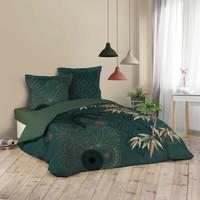 Domov Posteľná bielizeň Douceur d intérieur JAPONI Zelená smaragdová
