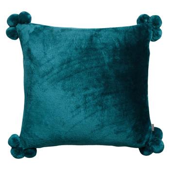 Domov Obliečky na vankúše Vivaraise TENDER POMPONS Modrá