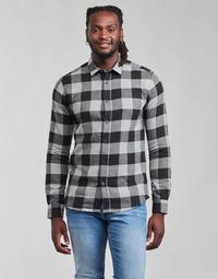 Oblečenie Muži Košele s dlhým rukávom Only & Sons  ONSGUDMUND Čierna / Biela