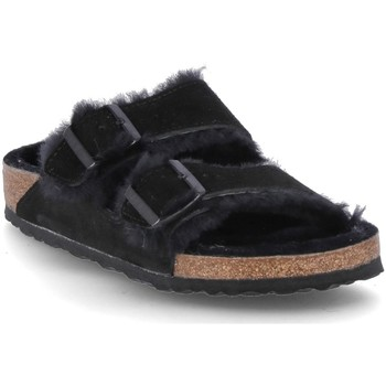 Topánky Muži Šľapky Birkenstock Arizona Fur Čierna