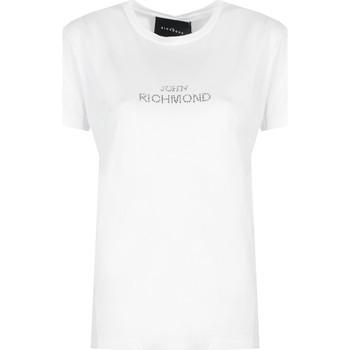 Oblečenie Ženy Tričká s krátkym rukávom John Richmond  Biela