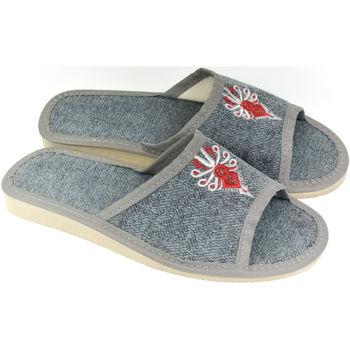 Topánky Ženy Papuče John-C Dámske sivé papuče SOFFI sivá