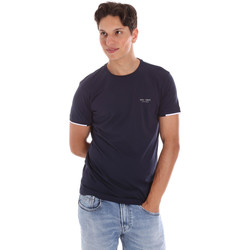 Oblečenie Muži Tričká s krátkym rukávom Key Up 2S420 0001 Modrá