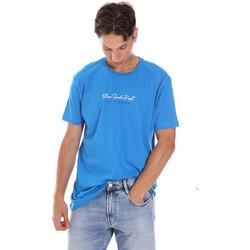 Oblečenie Muži Tričká s krátkym rukávom Key Up 2S438 0001 Modrá