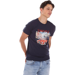 Oblečenie Muži Tričká s krátkym rukávom Key Up 2S427 0001 Modrá